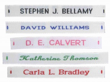 Woven Sew On Hot Cut Name Tape Labels