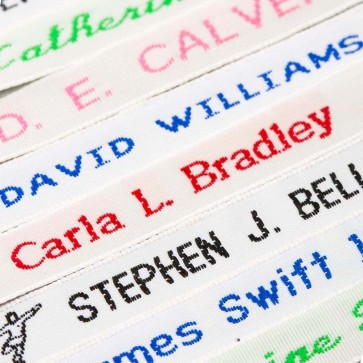 Woven Sew On Name Tapes Labels