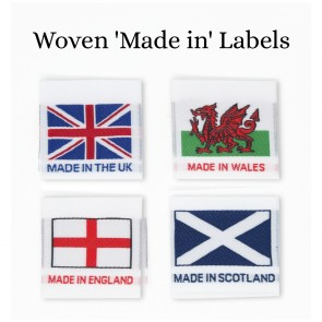 Woven 'Made In' Manufacturing Labels