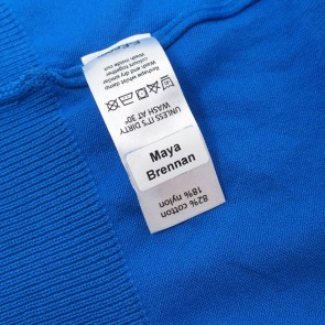 Stick and Wash Clothing Name Labels